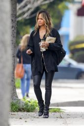 Halle Berry in Skin-Tight Leather Pants 03/19/2019