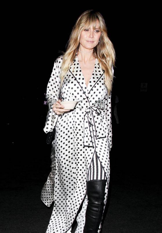 Heidi Klum - Leaves Billie Eilish Album Release Party 03/28/2019