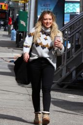 Hilary Duff on the Set of Younger in NYC 03/07/2019