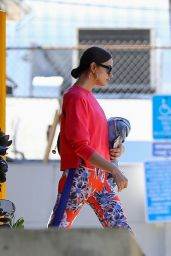 Irina Shayk in a Colorful Outfit 03/13/2019