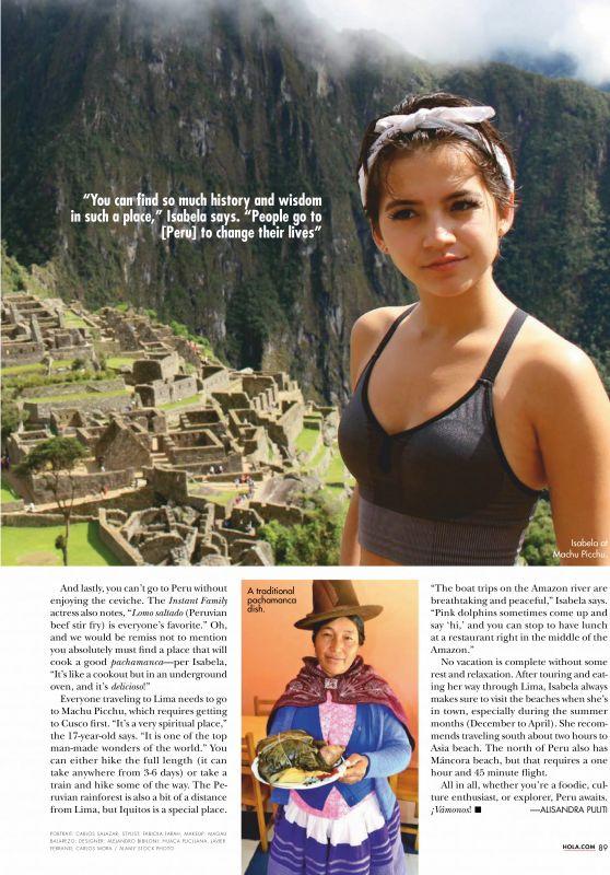 Isabela Moner - Hola! Magazine USA April 2019 Issue