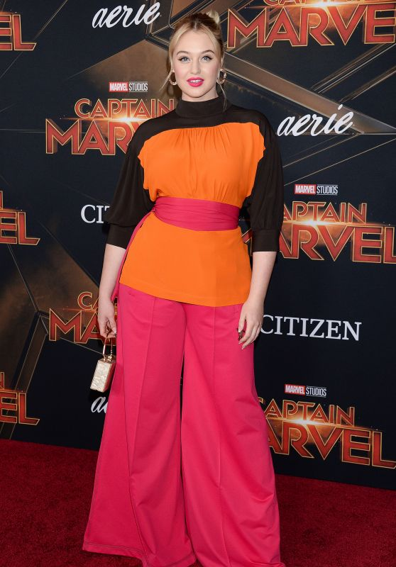 """Iskra Lawrence – """"Captain Marvel"""" Premiere in Hollywood"""