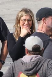 Jennifer Aniston Filming With Steve Carell in Los Angeles 03/21/2019