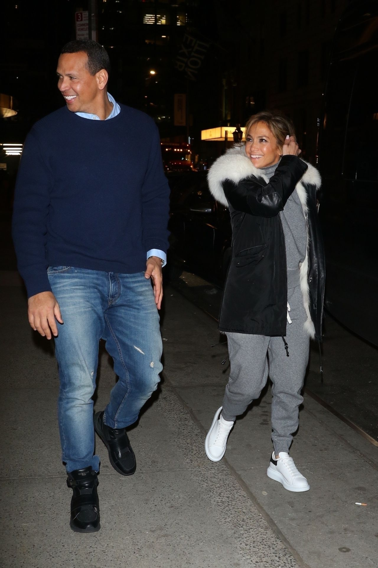 Jennifer Lopez and Alex Rodriguez at the Polo Bar in New ...