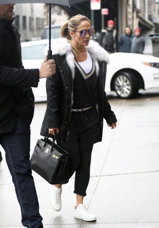 Jennifer Lopez - Heading to a Studio in NYC 03/21/2019