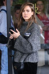Jessica Alba at Roosevelt Hotel on Hollywood Blvd in LA 03/11/2019