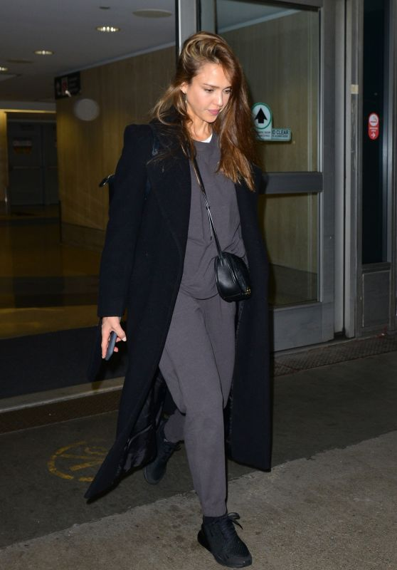 Jessica Alba in Travel Outfit at LAX in LA 03/29/2019