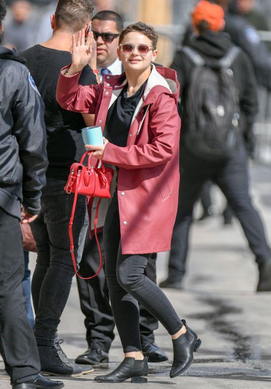 Joey King - Outside Jimmy Kimmel Live! in Hollywood 03/20/2019