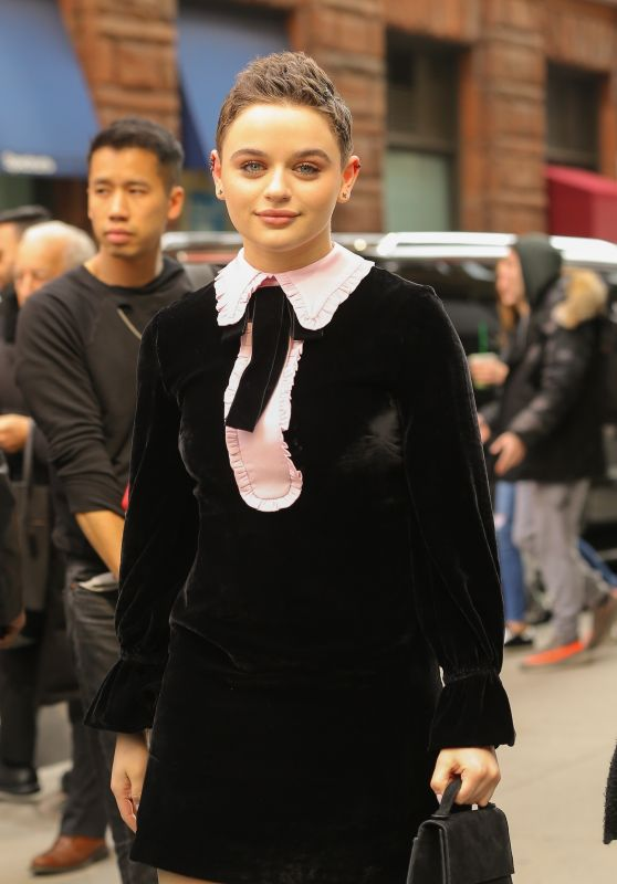 Joey King - Visits BUILD in NYC 03/14/2019
