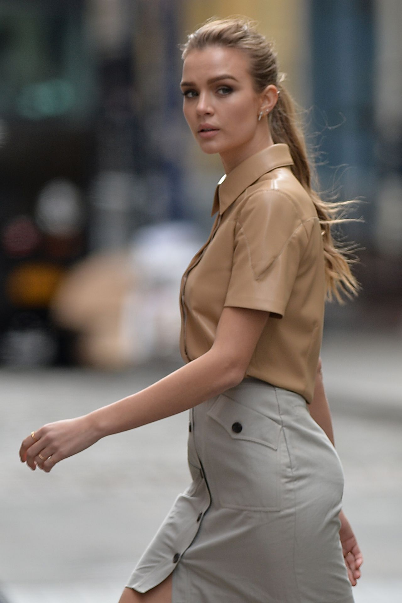 Josephine Skriver Shooting A Maybelline Commercial In Nyc 03 22 2019
