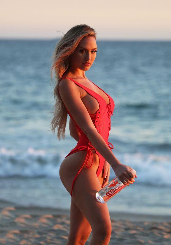 Jules Liesl models a Red Swimsuit 03/27/2019