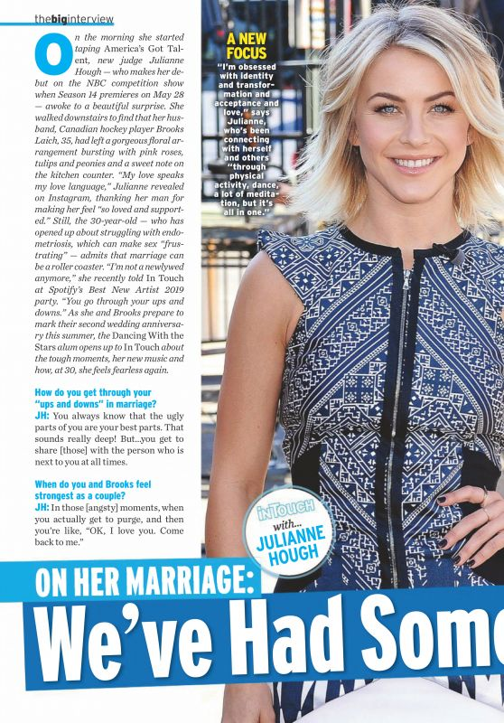 Julianne Hough - In Touch Weekly Magazine April 2019 Issue