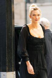 Karlie Kloss in Chiffon Dress 03/13/2019