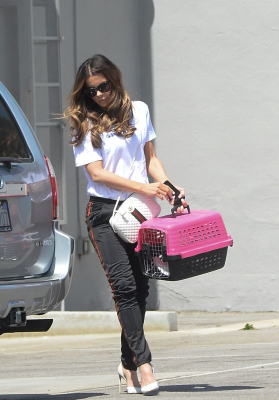 Kate Beckinsale - Takes Her Cat to Work at the Smashbox Studios in LA 03/29/2019