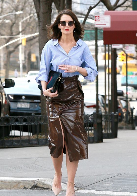 Katie Holmes is Stylish - Out in NYC 03/14/2019