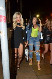 Kendall Rae Knight and Ellie Brown - Arriving At China White in Manchester 03/16/2019