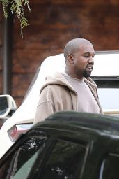 Kim Kardashian, Kanye West, Paris Jackson, Kylie Jenner - Arrive for Sunday Services at the Same Church in Calabasas 03/10/2019
