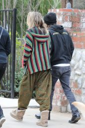 Kim Kardashian, Kanye West, Paris Jackson, Kylie Jenner - Arrive for Sunday Services at the Same Church in Calabasas 03/10/2019