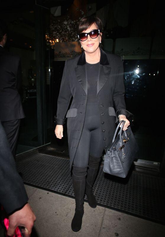 Kris Jenner Style - Leaving Kathy Hilton