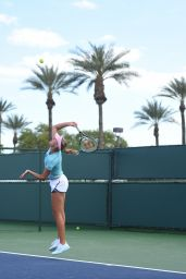 Kristina Mladenovic - Practice at the 2019 Indian Wells Masters 1000