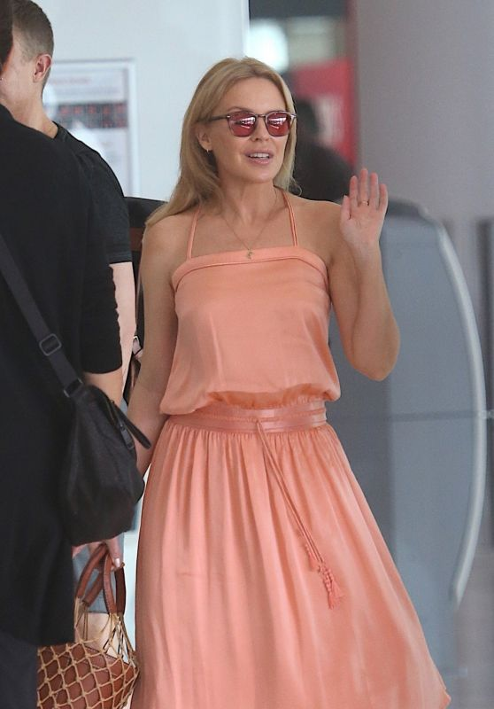 Kylie Minogue - Perth Airport 03/10/2019