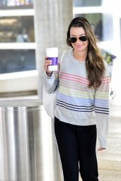 Lea Michele at LAX 03/24/2019