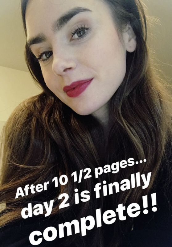 Lily Collins - Personal Pics 03/06/2019
