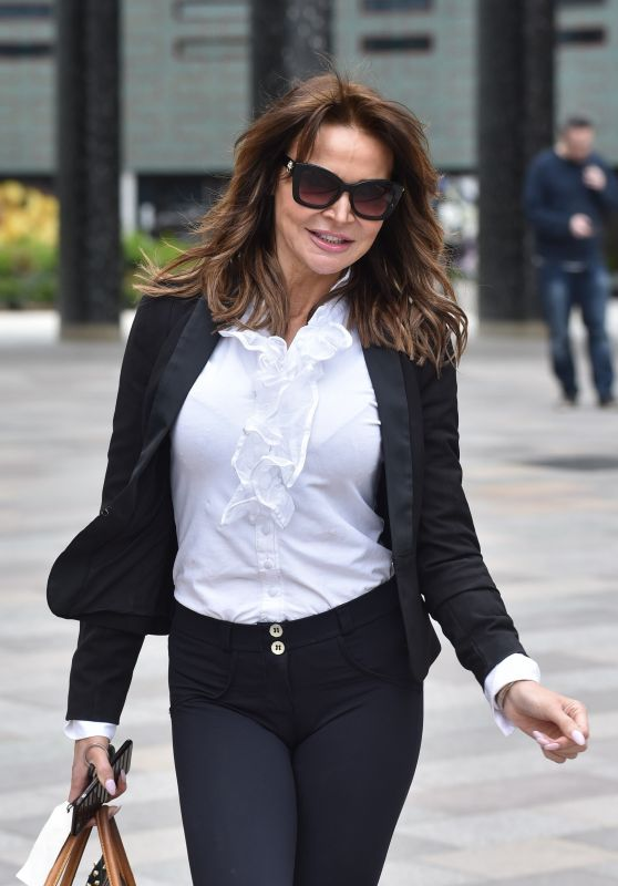 Lizzie Cundy at the ITV Studios in London 03/19/2019