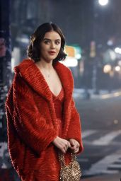 """Lucy Hale - Filming """"Kate Keene"""" in NYC 03/22/2019"""