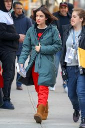 "Lucy Hale - Leaving ""Katy Keene"" Set in NYC 03/20/2019"