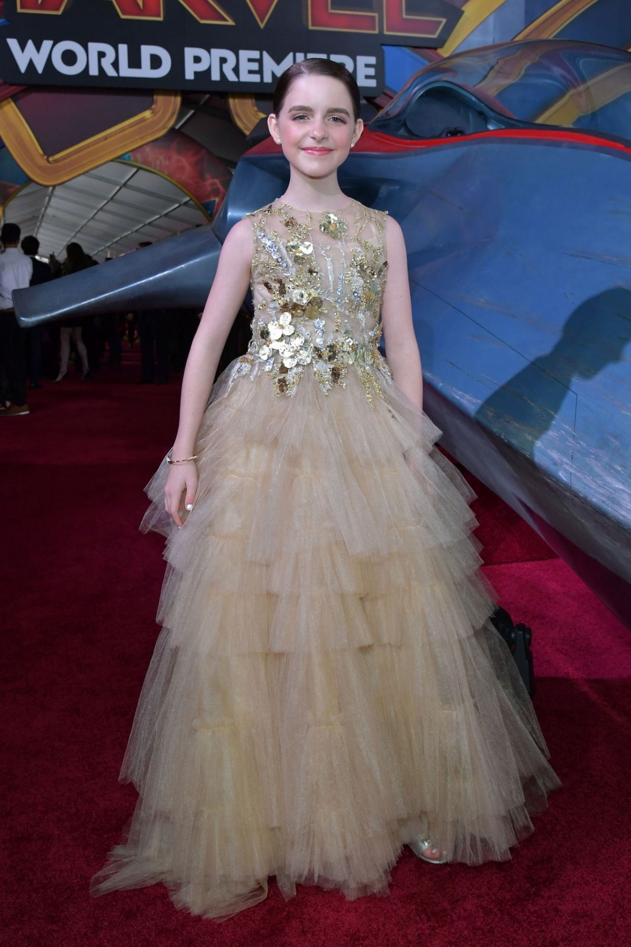 Mckenna Grace Captain Marvel Premiere In Hollywood