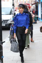 Megan McKenna in Electric Blue Silk Shirt 03/05/2019