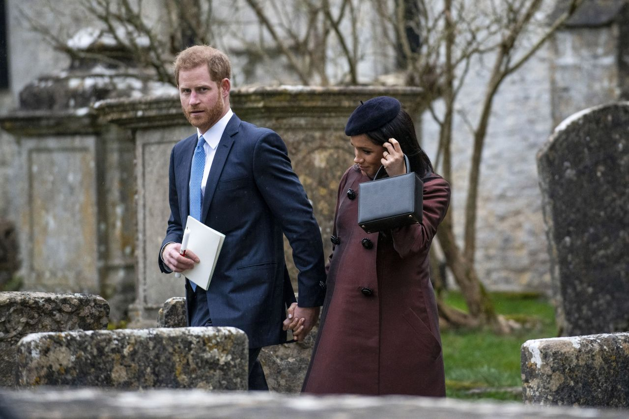 Meghan Markle And Prince Harry At The Christening Of Zara