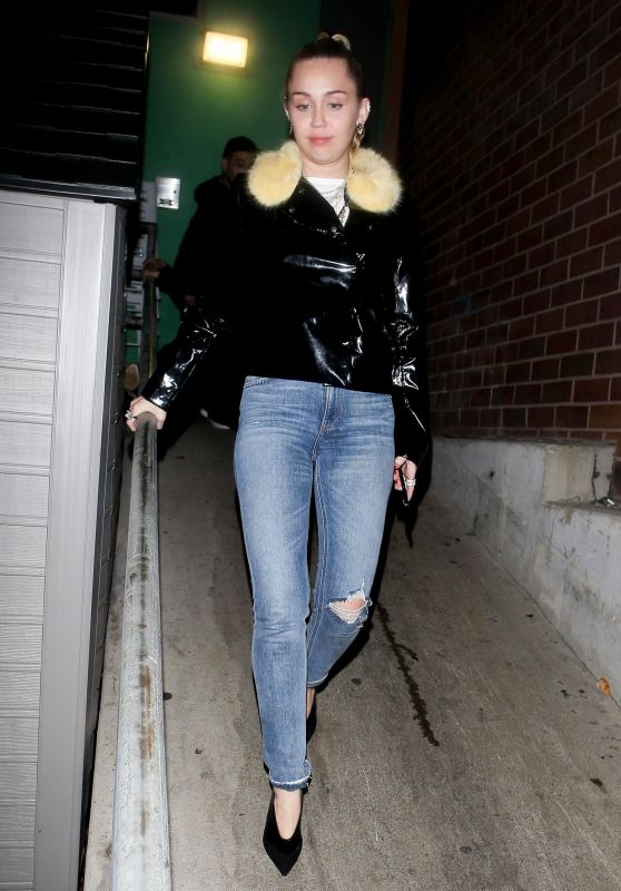 Miley Cyrus - Exiting from TomTom Bar in West Hollywood 03/22/2019
