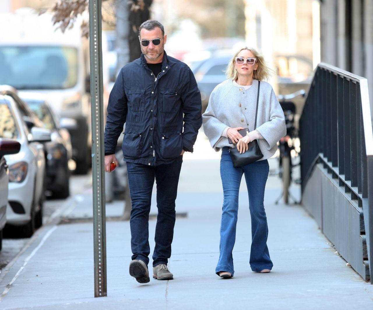 Naomi Watts and Liev Schreiber - New York City 03/14/2019