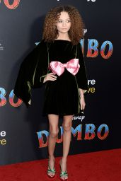 """Nico Parker and Thandie Newton – """"Dumbo"""" World Premiere in Hollywood"""