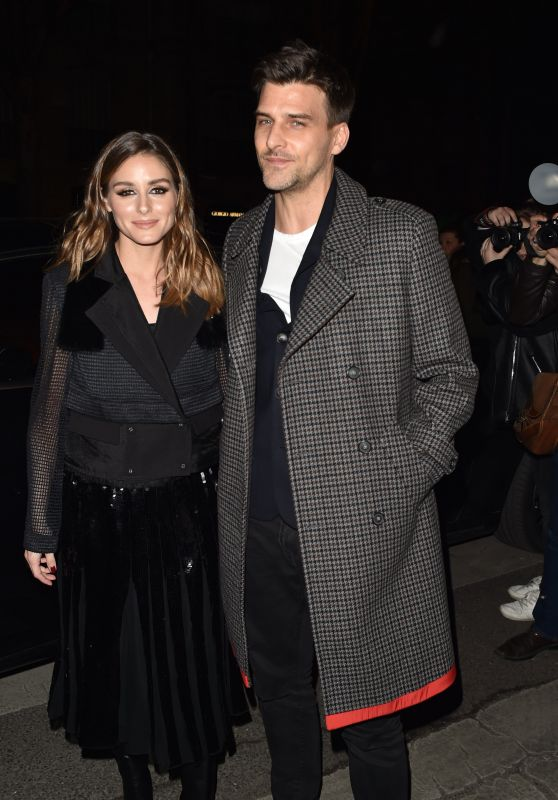 Olivia Palermo - Arriving at the Tommy Hilfiger Fashion Show in Paris 03/02/2019