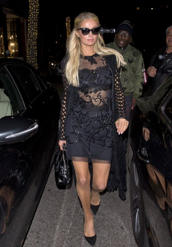 Paris Hilton Night Out Style 03/08/2019