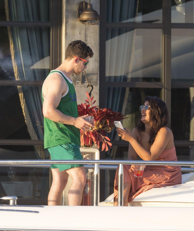 Priyanka Chopra And Nick Jonas Kiki On The River
