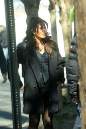 """Sarah Shahi - Filming """"City on a Hill"""" in NYC 03/27/2019"""
