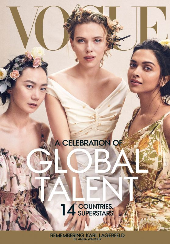 Scarlett Johansson, Doona Bae and Deepika Padukone - Vogue US April 2019 Cover and Photos