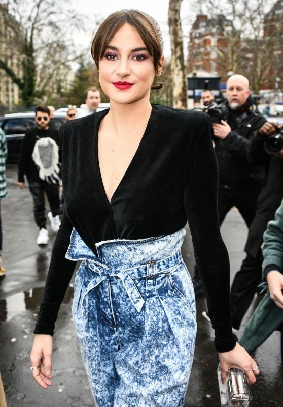Shailene Woodley – Balmain Fashion Show in Paris 03/01/2019