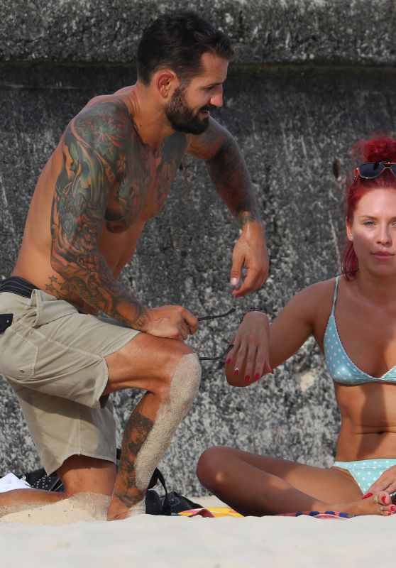 Sharna Burgess in Bikini at the Bondi Beach 03/15/2019