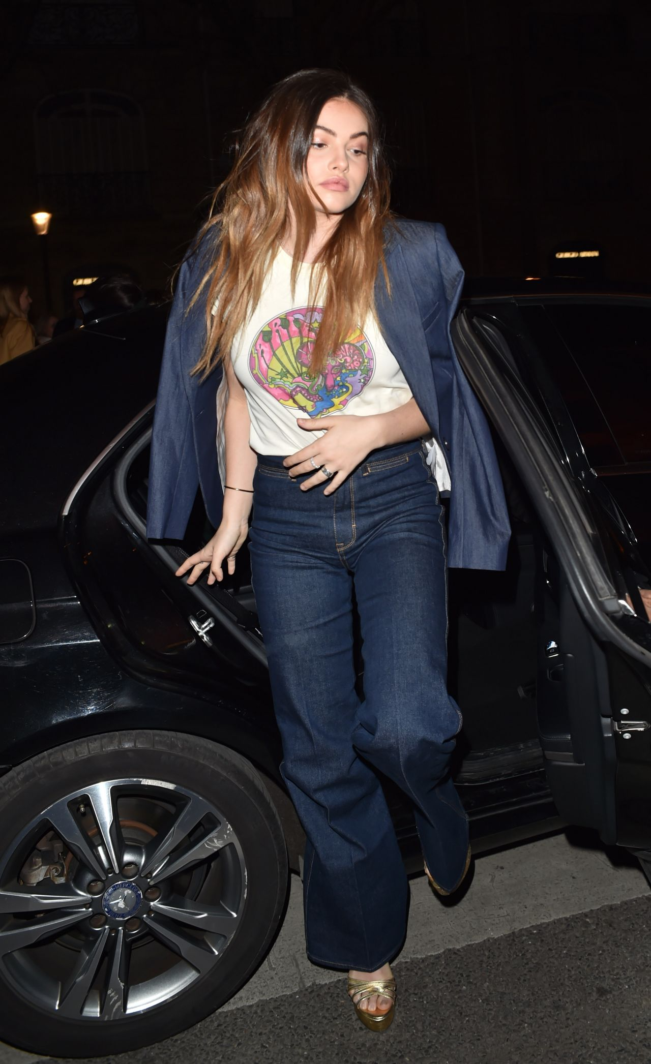 f961a16e Thylane Blondeau - Arriving at the Tommy Hilfiger Fashion Show in Paris 03/ 02/2019