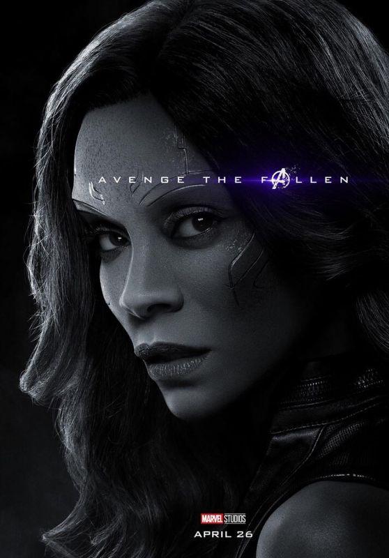 Zoe Saldana – Avengers: Endgame (2019) Promo Poster