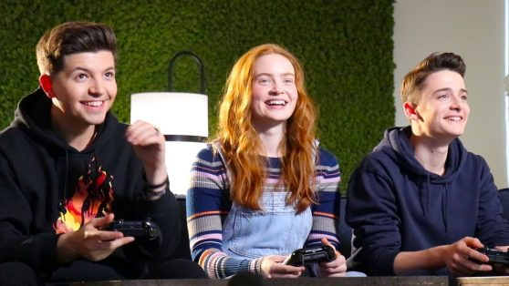 """Sadie Sink - Playing Games With the """"Stranger Things"""" Cast"""