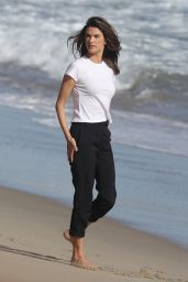 Alessandra Ambrosio - Beachside Photoshoot 04/10/2019