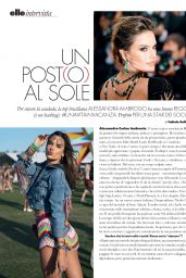 Alessandra Ambrosio - ELLE Italy April 2019