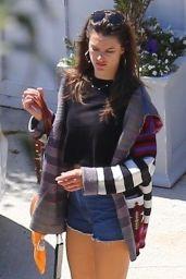 Alessandra Ambrosio in Jeans Shorts - Santa Monica 04/11/2019