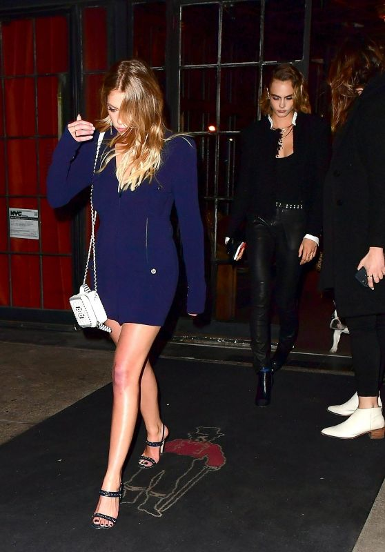Ashley Benson and Cara Delevingne - Exit Their Hotel in NYC 04/29/2019